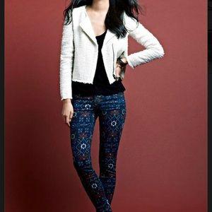 CURRENT/ELLIOTT Ankle Skinny Midnight Jeans